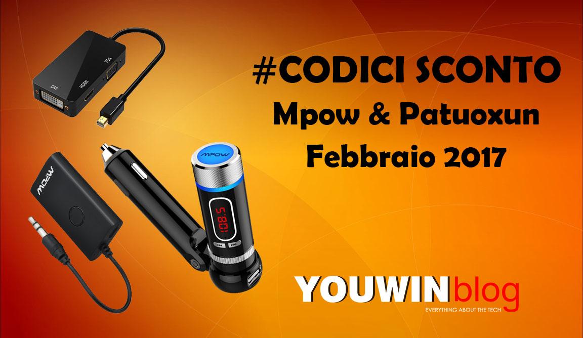 [CODICI SCONTO] Mpow & Patuoxun (Febbraio '17)
