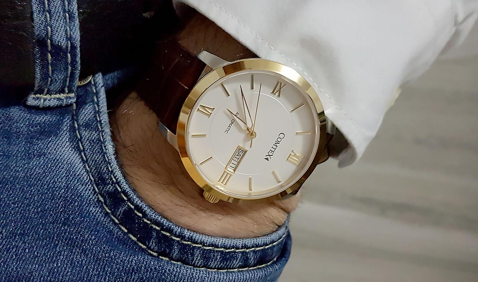 Orologio automatico COMTEX con cinturino in pelle
