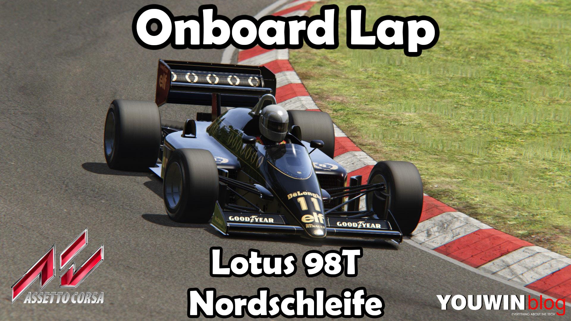 Assetto Corsa HotLap Lotus 98T @ Nordschleife