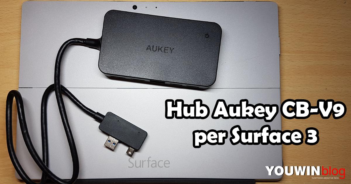 Hub Aukey CB-V9 per Surface 3