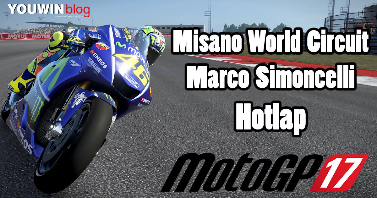 MotoGP 17 Hotlap Yamaha M1 @ Misano