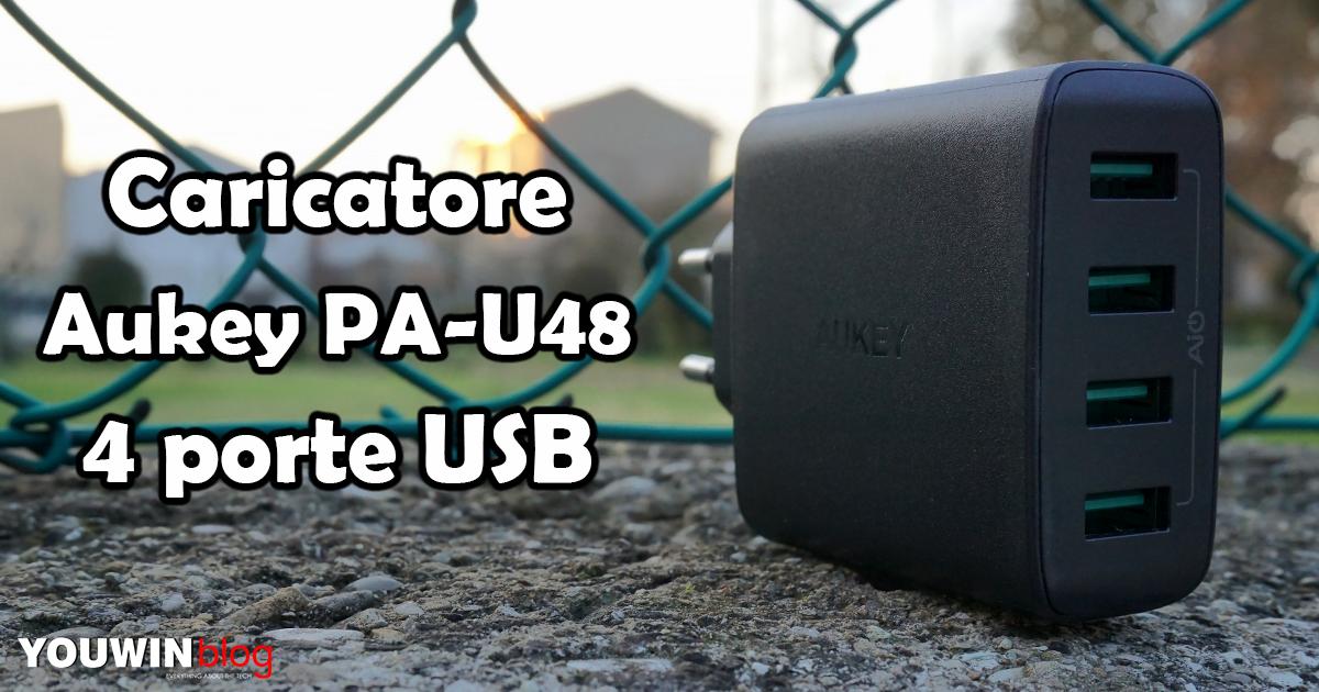 Caricatore Aukey 4 USB PA-U48