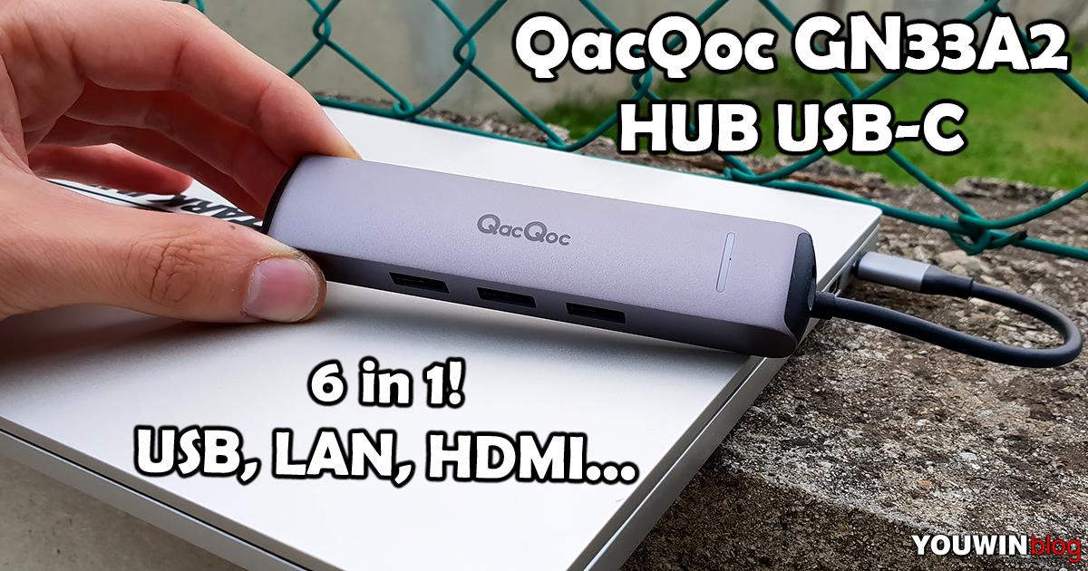 HUB USB-C QacQoc GN33A2