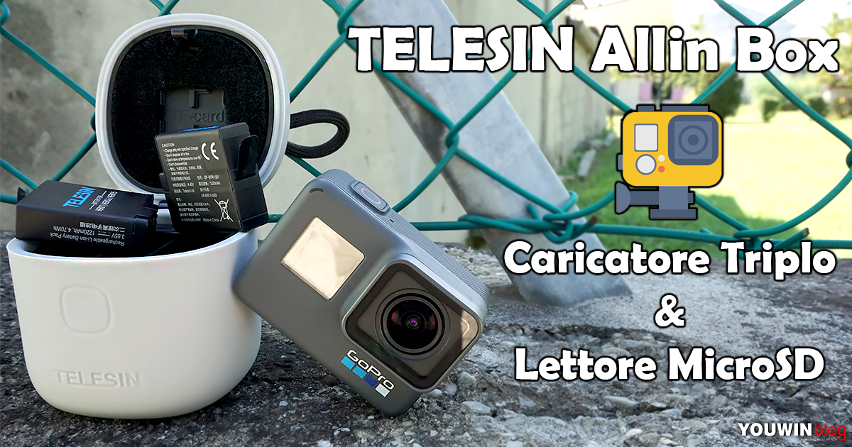 Carica GoPro Telesin AllinBox